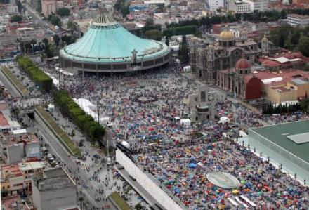 se estima que 5 millones y medio de fieles llegaron estos días a la basílica de guadalupe