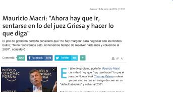 Macri ya había anticipado que cumpliría los deseos de Griesa