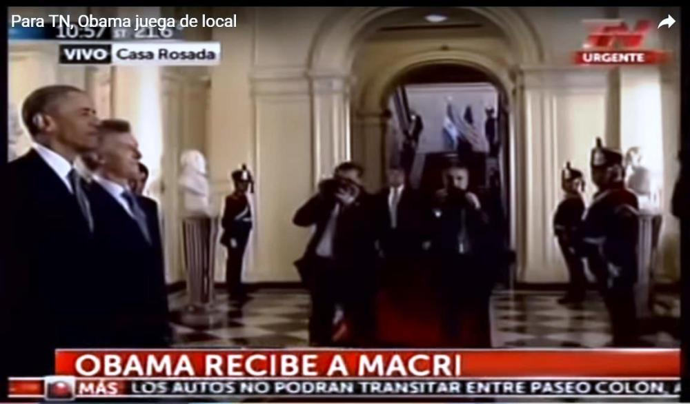 obama recibe a Macri