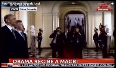 obama recibe a Macri