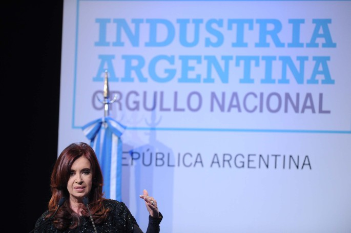 Télam Buenos Aires 03/09/2012 La presidenta Cristina Fernández de Kirchner encabezó el acto por el Día de la Industria,en Tecnópolis, del cual participaron empresarios de distintos sectores productivos. Foto: Maximiliano Luna/Télam/cf