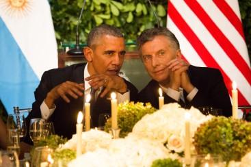 macri y obama cena