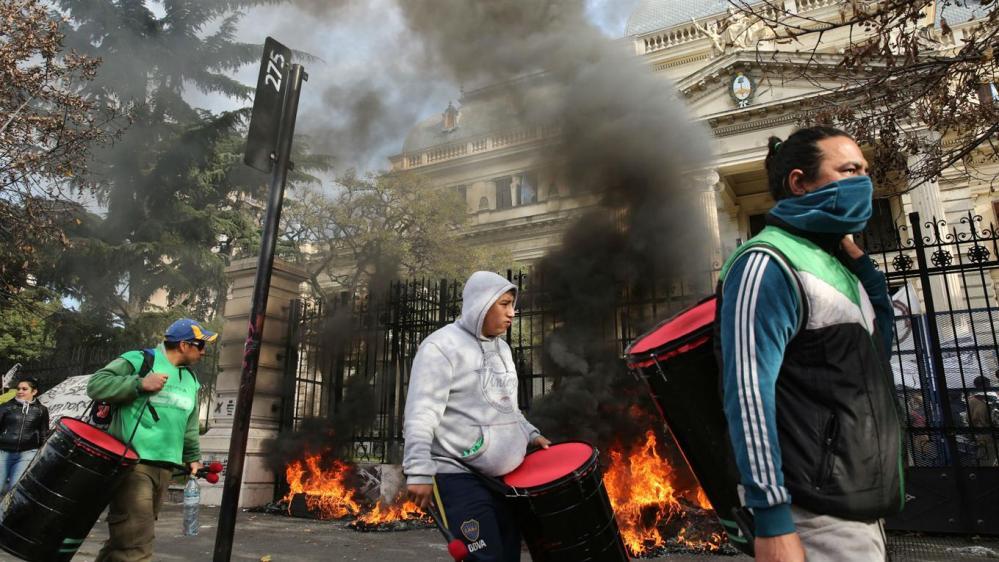 fuego en La Plata