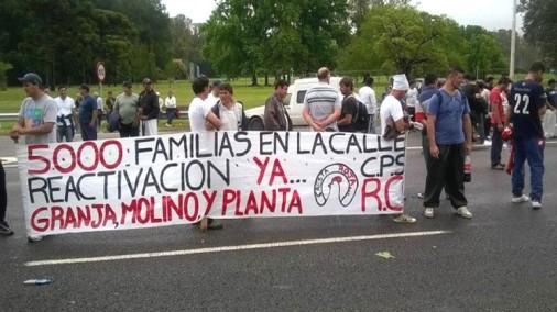 lucha de los trabajadores de Cresta Roja