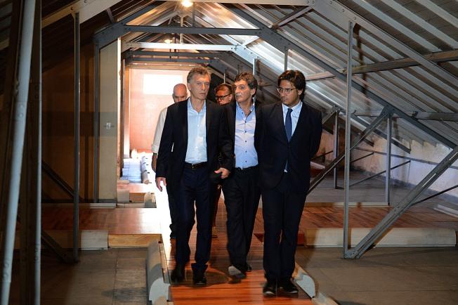 Télam 15/02/2016 Buenos Aires: El presidente Mauricio Macri visita las instalaciones del Espacio Memoria y Derechos Humanos ubicado en el predio donde funcionó la Escuela de Mecánica de la Armada (ESMA), centro clandestino de detención durante la dictadura militar. Foto: Presidencia/Télam/ddc