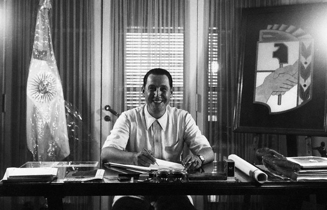 Argentina --- Juan Domingo Peron: (Born 1895) South American Dictator in his office. (Original Caption) --- Image by © Bettmann/CORBIS