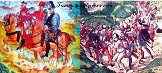 3. Viajes de los Welser, detalle de Theodor de Bry.