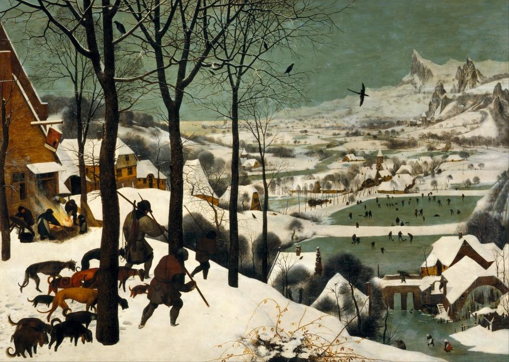 2 Cazadores en la nieve de Pieter Brueghel.jpg