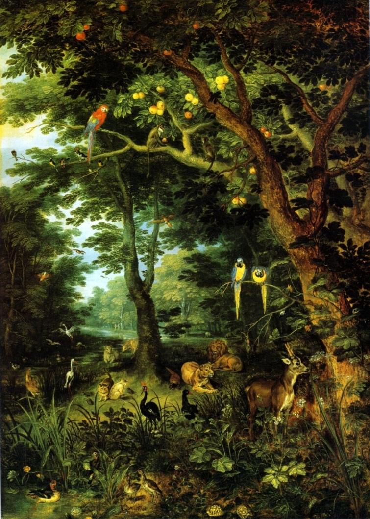 3 Jan Brueghel, El Paraíso terrenal, 1612. Roma, Galería Doria Pamphili.