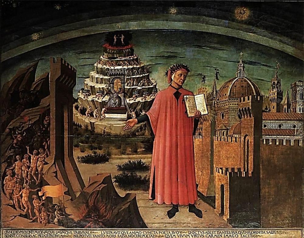 5 Domenico_di_Michelino (1417-1491 -_Dante_and_the_Three_Kingdoms Iglesia del Duomo, Florencia